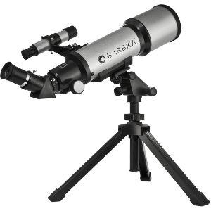 Barska Starwatcher 400x70mm Refractor Telescope W Trípode de mesa y estuche de transporte