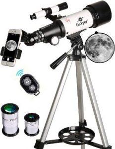 Telescopio Gskyer, alcance de viaje, telescopio refractor astronómico de montaje en Az con apertura de 70 mm y 400 mm para niños principiantes