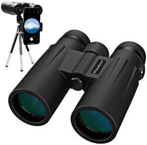 Binoculares Usogood 12x50 para adultos con trípode, binoculares compactos impermeables para observación de aves, H (1)